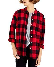 Cotton Buffalo-Plaid Flannel Shirt, Created for Macy's