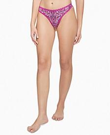 Women's Lace-Trim Thong Underwear QD3705