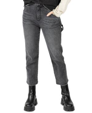 Juniors' High-Rise Straight-Leg Carpenter Denim Jeans