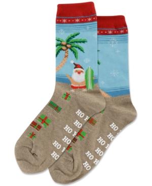 Surfing Santa Crew Socks