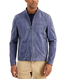 Men's Basic Suede Racer Jacket