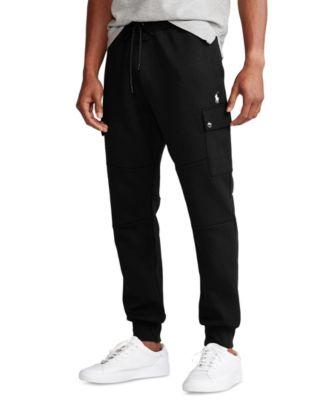 폴로 랄프로렌 Polo Ralph Lauren Mens Big & Tall Double-Knit Cargo Jogger Pants,Polo Black