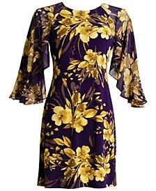 Kimono-Sleeve Jersey Dress