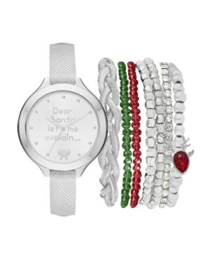 Women's Analog Dear Santa Strap Watch 34mm with Red
