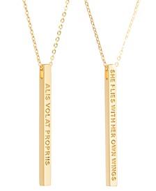 Women's Alis Volat Propriis Bar Necklace