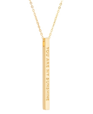 Women's You Are My Sunshine Bar Necklace