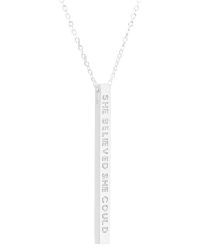 Women's She Believed She Could So She Did Bar Necklace