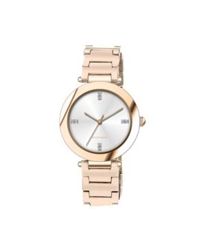 American Exchange Women's Metal Diamond Rose Gold-Tone Stainless Steel Analog Watch