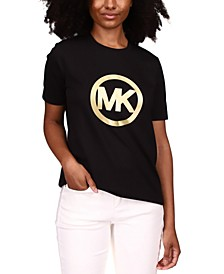 Cotton Foil Circle Logo T-Shirt