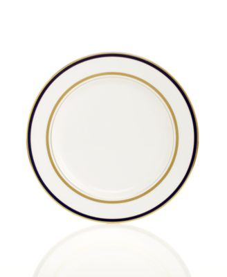 Library Lane Navy Appetizer Plate