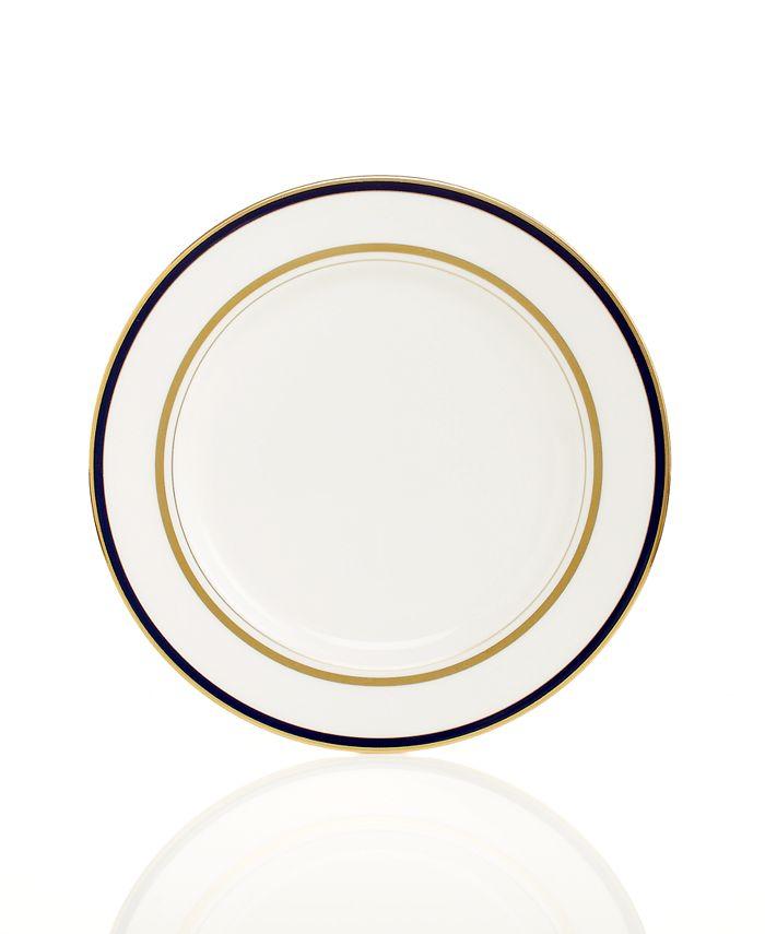 kate spade new york - Library Lane Navy Appetizer Plate