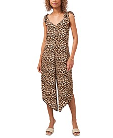 Leopard-Print Sleeveless Cropped Jumpsuit