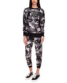 Exclusive Camo-Print Pants, Regular & Petite