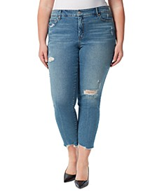 Trendy Plus Size Spotlight High Rise Straight-Leg Jeans