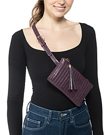 Quilted Faux Crocodile Convertible Belt Bag, Created for Macy's