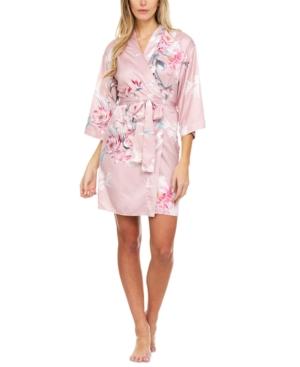 Phoebe Charmeuse Kimono Wrap Robe