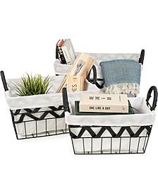 Fabric Baskets, Set of 3