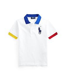 Toddler Boys Big Pony Mesh Polo Shirt