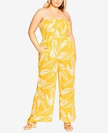 Plus Size Sunshine Floral Jumpsuit