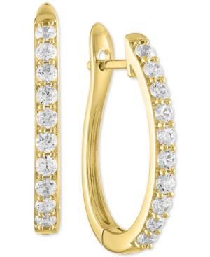 Lab-Created Diamond Oval Hoop Earrings (1 ct. t.w.) in Sterling Silver
