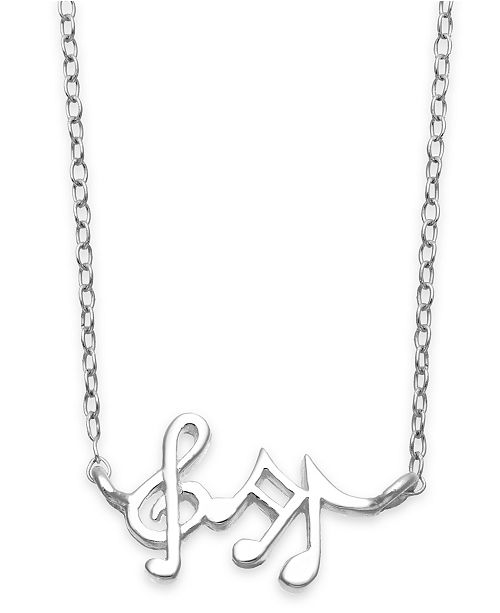 unwritten mini music notes pendant necklace in sterling silver