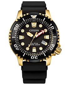 Eco-Drive Men's Professional Diver Black Strap Watch 44mm