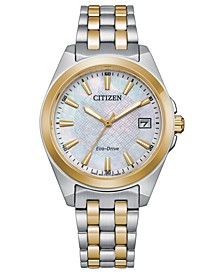 Eco-Drive Women's Corso Two-Tone Stainless Steel Bracelet Watch 33mm