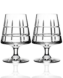 Orrefors Street Set of 2 Cognac Glasses