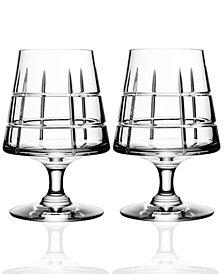 Orrefors Street Set of 2 Cognac Glasses