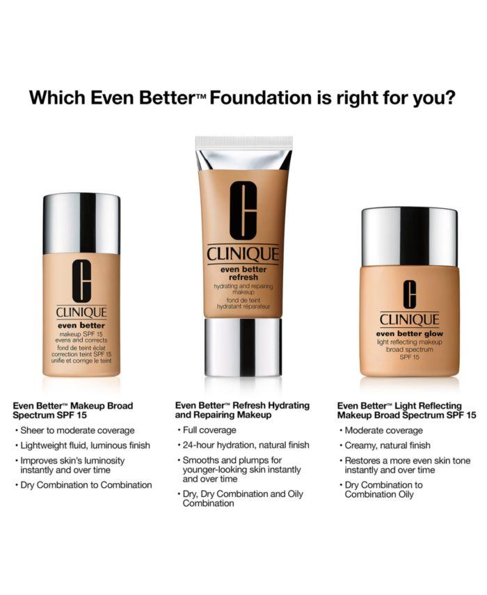 Clinique Even Better Glow Light Reflecting Makeup SPF 15, 1-oz. & Reviews - Foundation - Beauty - Macy's
