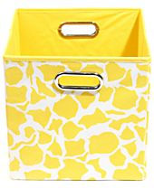 Modern Littles Patterned Folding Storage Bins