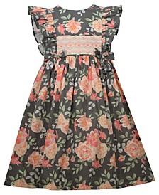 Toddler Girls Cabbage Pinafore Style Dress