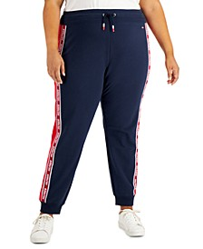Plus Size Logo Side-Stripe Joggers