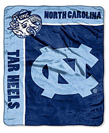 Northwest Company North Carolina Tar Heels Plush Team Spirit Throw Blanket