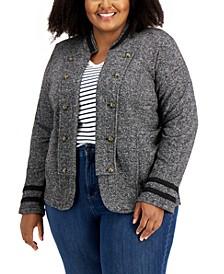 Plus Size Band Jacket