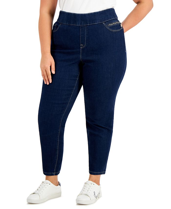 Tommy Hilfiger - Plus Size Gramercy Pull-On Jeans