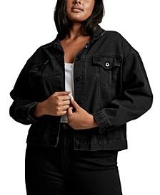 Plus Size Trendy 90s Baggy Denim Jacket