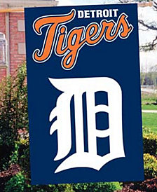 Party Animal Detroit Tigers Applique House Flag