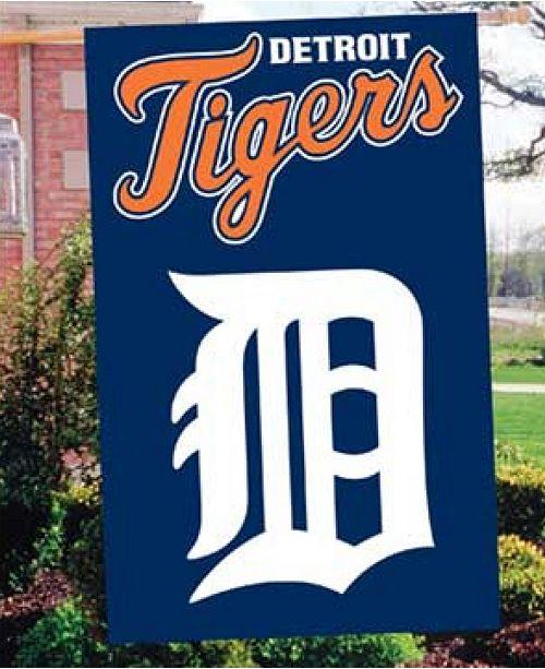 Party Animal Detroit Tigers Applique House Flag