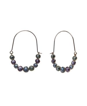 Threader Stone Hoop Earrings