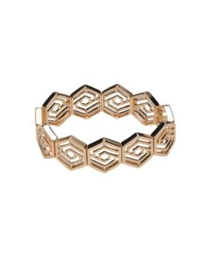 Gold-Tone Cutout Stretch Bracelet