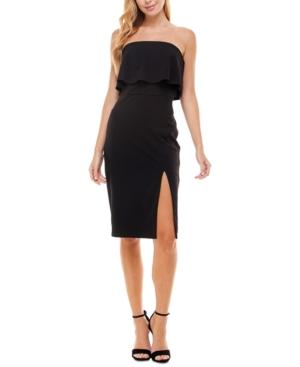 Juniors' Strapless Fold-Over Dress