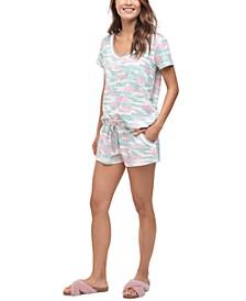Scoop Neck Short Pajama Set