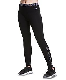 Women's Authentic Printed Logo Full-Length Leggings