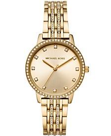 Women's Melissa Gold-Tone Stainless Steel Bracelet Watch 35mm