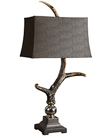 Dark Shade Stag Horn Table Lamp