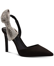 Aminah Abdul Jillil for INC Forever Your Girl Bow Slingback Pumps, Created for Macy's
