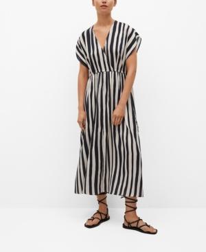 Women's Striped Flared Dress
