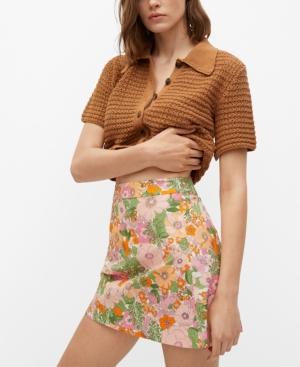Women's Floral Print Miniskirt