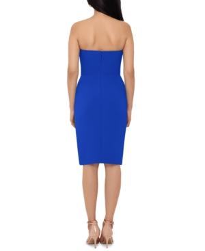 Side-Ruffle Strapless Dress